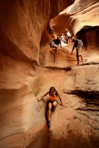 Wilhite Slot Canyon hiking