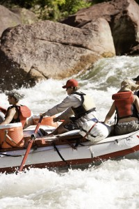 Running the rapids on the Green River.