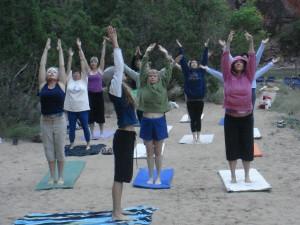 Yoga on the River bank