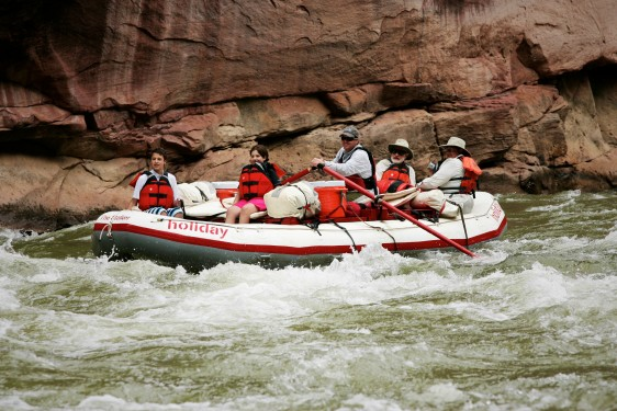 Rafting through Lodore Canyon