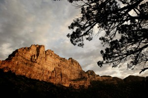 Light on the canyon walls