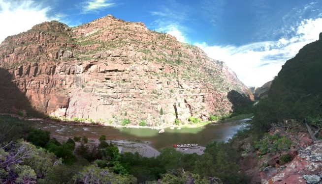 Colorado River Rafting through Gate of Lodore Canyon