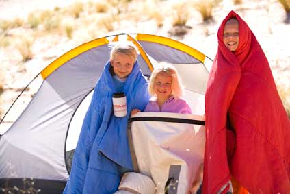 Sisters and Camping Gear