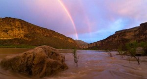 Rainbow in Cataract Canyon, Colorado River Rafting Trips
