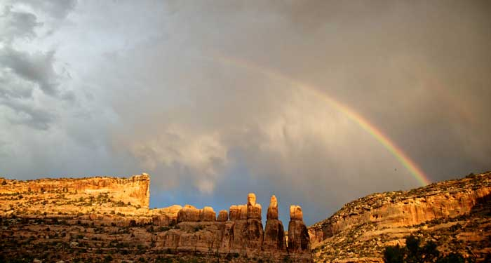 Rainbow over the Colorado River through Cataract Canyon in Canyonlands National Park