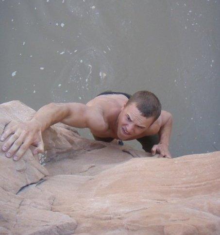 Joe climbing