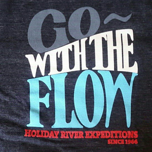 Go With Th Flow Black Front