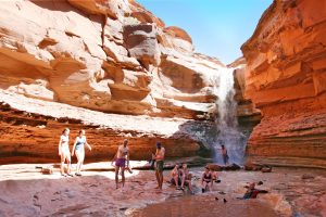 Indian Creek Falls in Canyonland National Park
