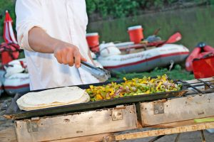 Delicious meals on Colorado River Rafting trips