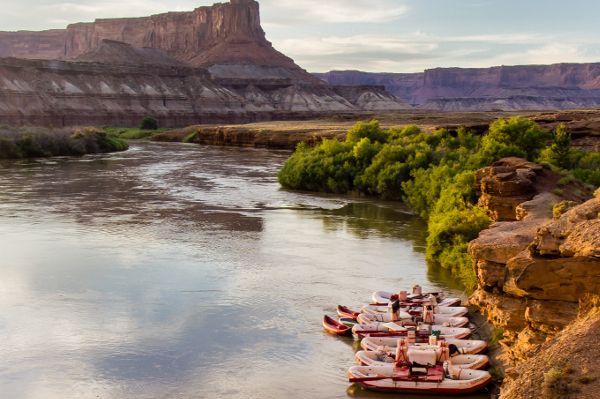 Awesome Camps in Cataract Canyon 3 day Colorado River Rafting Trip