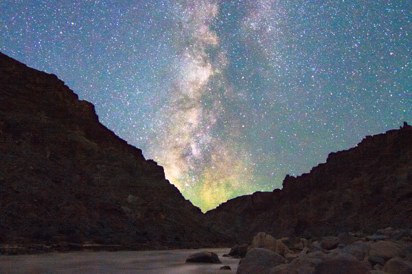 Milky Way in Cataract Canyon on the Colorado River
