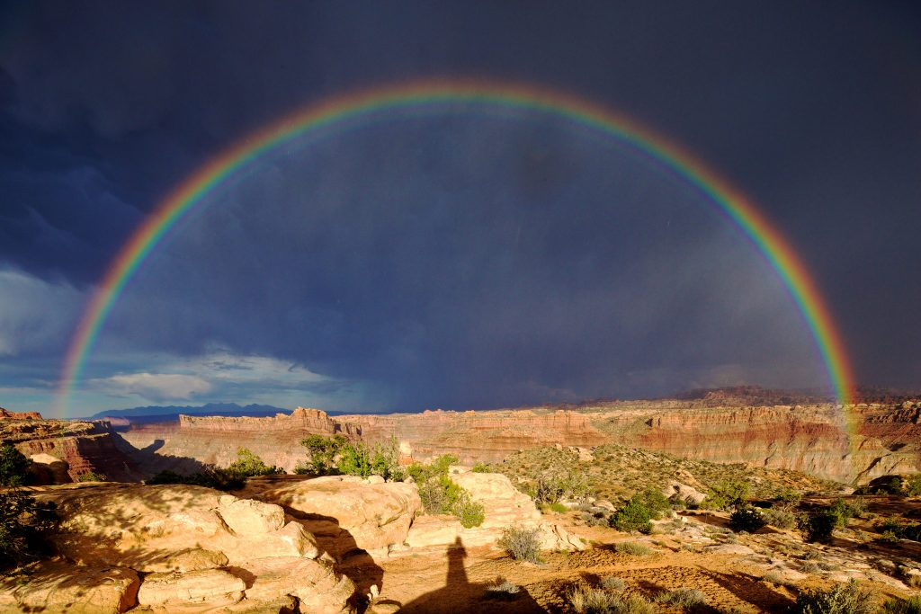 Rainbow over the Colorado Plateau