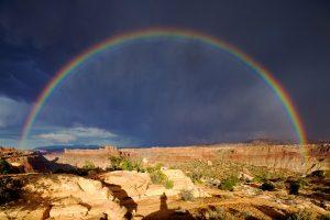 Rainbow over the Colorado Plateau