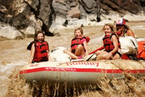 Family friends whitewater rafting trips