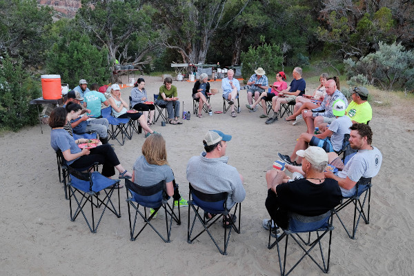 Vegan Wellness Group Dinner on Utah Whitewater Rafting trip