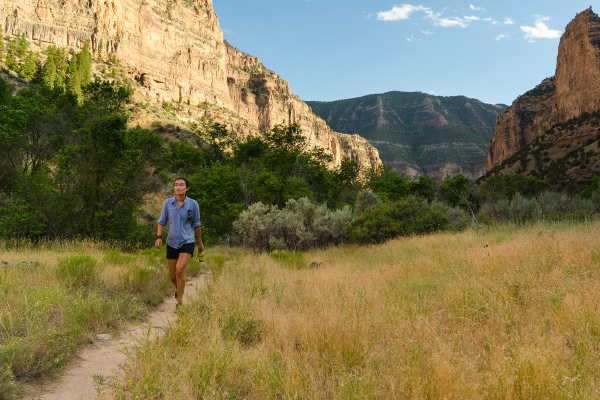 Hiking on the Green River through Lodore Canyon