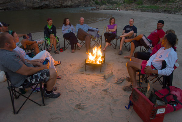 Lodore Canyon River Rafting Trip Campfire