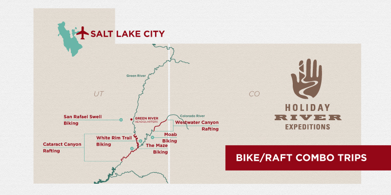 Moab Mountain Biking & River Rafting Combination Trips