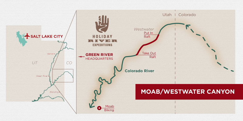 Moab Mountain Biking and Colorado River Rafting Combination Trip