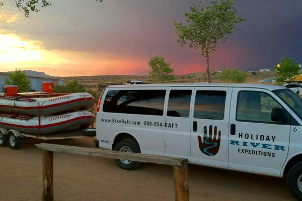 Passenger Van Ready for rafting trip