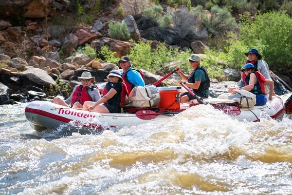 Rafting in an Oar Raft on the Yampa River Trip