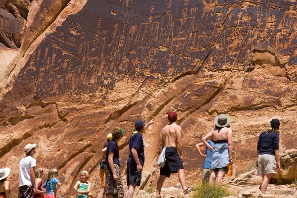 San Juan River Rafting Trip Petroglyphs