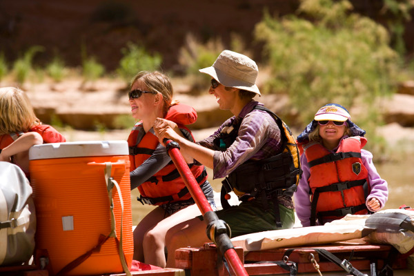 San Juan River Rafting Trip Rowing