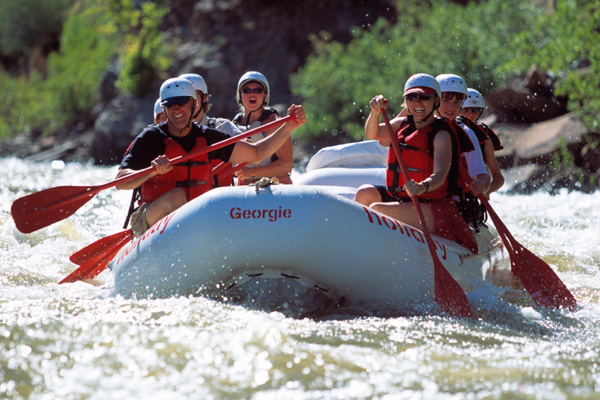 Yampa River Rafting in a Paddle Raft