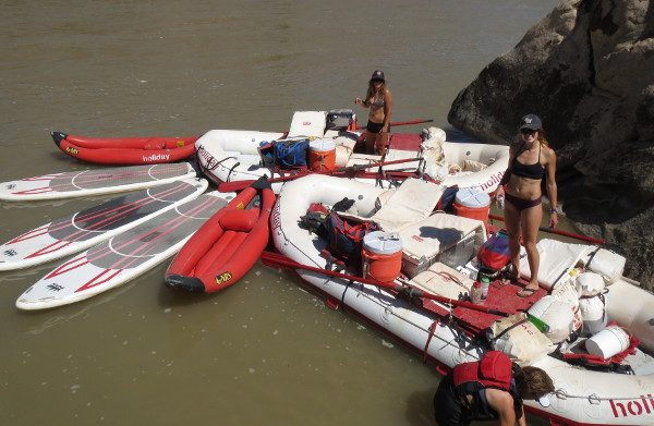 SUP Yoga Colorado River