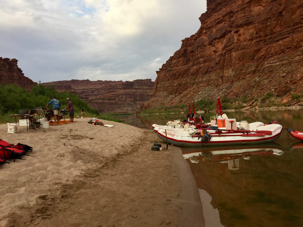 Camping on a Rafting Trip