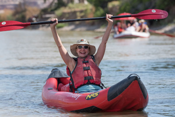 Inflatable kayaking on the colorado river