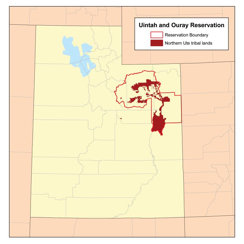 Uintah Reservation Map