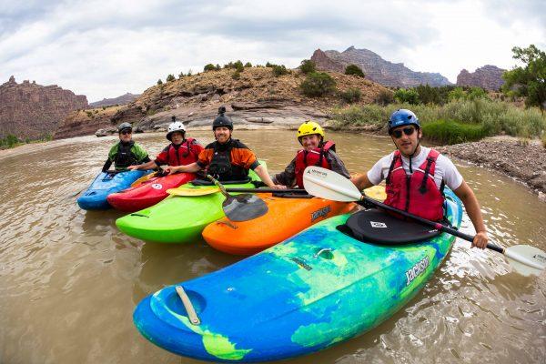 Kayakers in Deso Workshop
