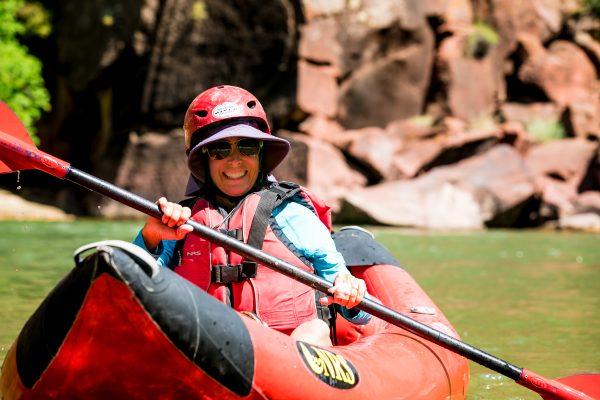 Women River Rafting Kayaking Yoga Lodore