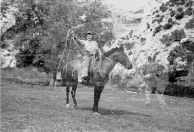 Josie Morris on Horse