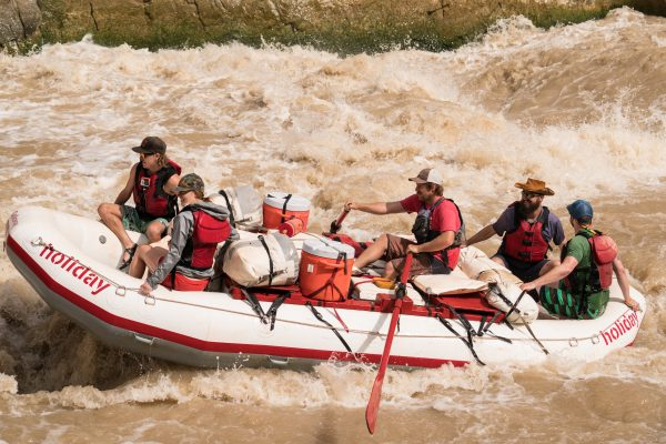 Oar Rafts on the green river is where to go white water rafting