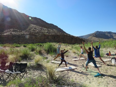 Wild Yoga on the River Canyon