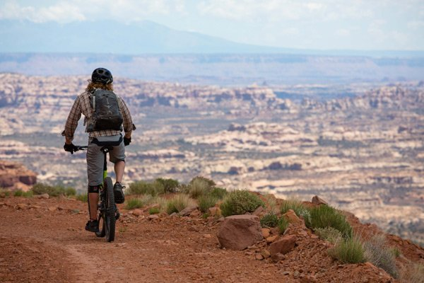 Expansive views biking the Maze District of Canyonlands