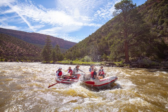 Yampa River Rafting with members of the Del Sol String Quartet