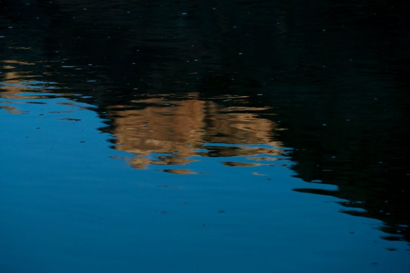 water reflection labyrinth