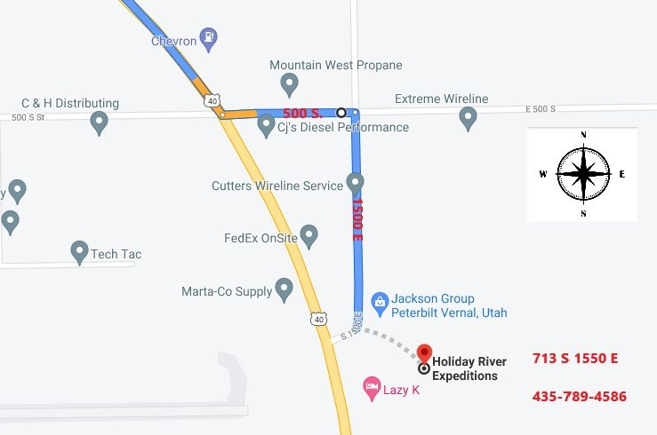 Directions to our Vernal, UT Headquarters